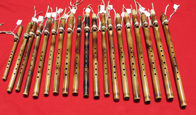<br>Cane & Black Bamboo Native American Flutes