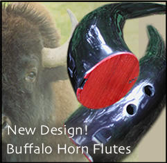 Buffalo Horn Flute by Keith Glowka