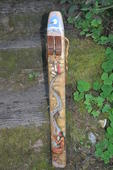 Brave Big River Low D Drone Flute by Russ Venable Art by Alix